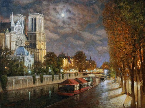 Night Paris. 2009. Oil on canvas
