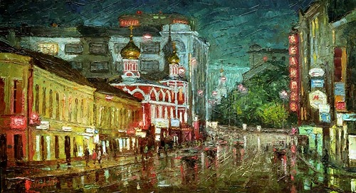 Zabelin street, Moscow. 2014. Oil on canvas