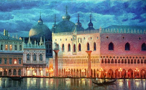Lights of Venice. 2002. Oil on canvas
