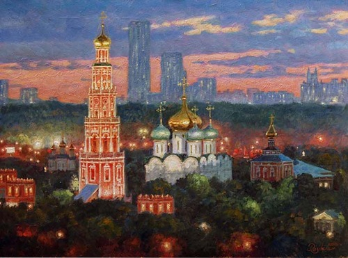 Colors of evening. Moscow. 2009. Oil on canvas