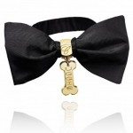 Chopard satin and gold bow-tie for Uggie