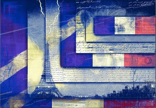 Eiffel tower. Creative art by German artist NuKuZu