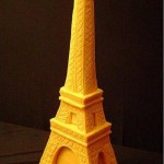 Eiffel Tower. Creative cheese sculpture by American artist Sarah Kaufmann