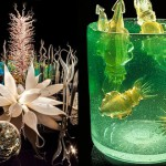 Nature and sea inspired Glass installation