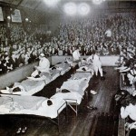 Medicine workers observing the contestants