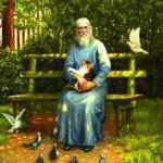 Father Nikolai (Guryanov). 2010. Oil on canvas. Painting by Russian artist Irina Gayduk