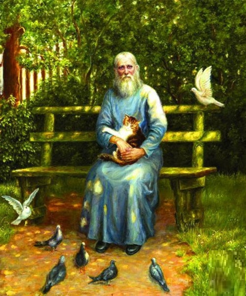 Father Nikolai (Guryanov). 2010. Oil on canvas. Painting by Russian artist Irina Gayduk
