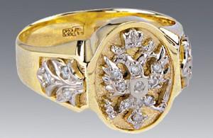 Gems: Diamond, Brilliant. Material: Gold 585