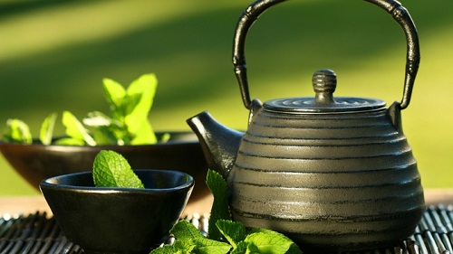 Still life with Green Tea