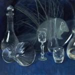 Glass bottles still life