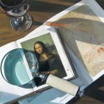 Magnifier and books