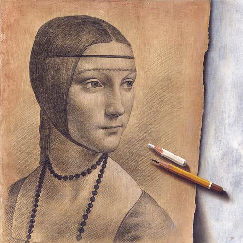 Pencil drawing. Hyperrealistic painting by Bulgarian artist Boyko Kolev