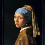 "Copy of famous painting ""Girl with a Pearl Earring"""