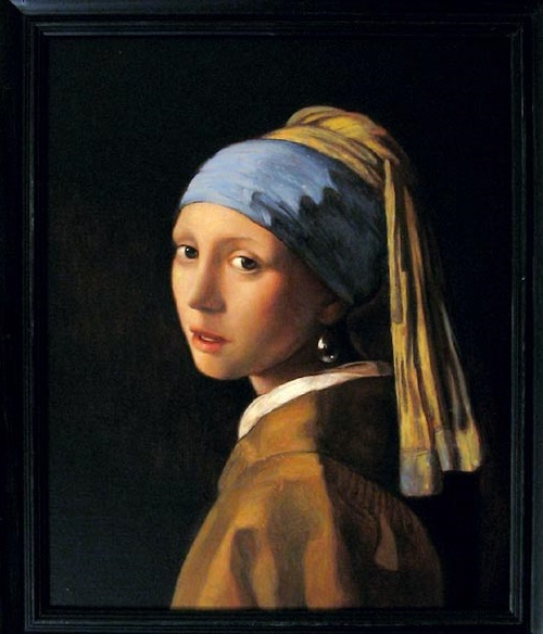 """Copy of famous painting """"Girl with a Pearl Earring"""""""