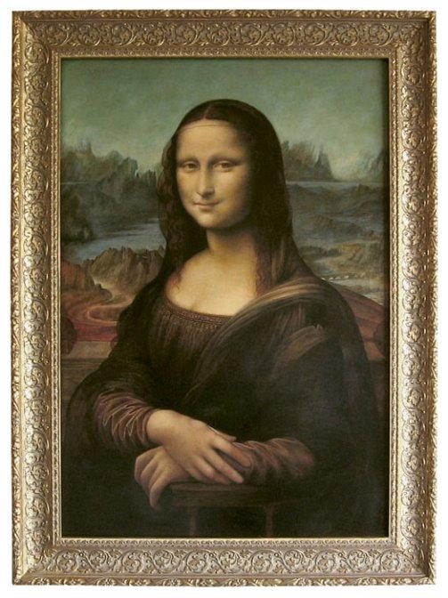 Iconic image of Mona Lisa by Leonardo da Vinci. Painting by Bulgarian artist Boyko Kolev
