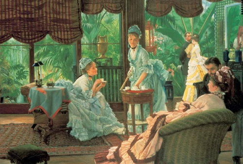 In the Conservatory (Rivals). French painter James Jacques Joseph Tissot (October 15, 1836 – August 8, 1902)