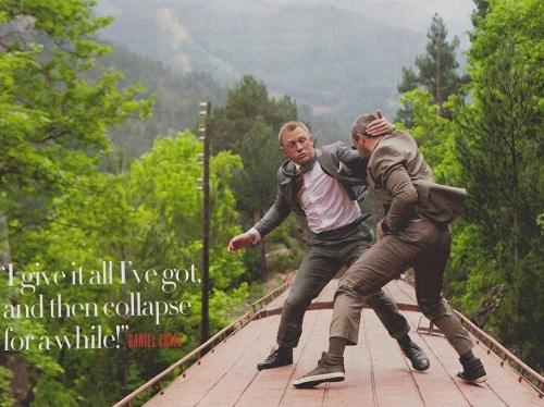 Scene from James Bond film