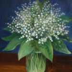Mayflower bouquet (Lily of the valley). Oil on canvas. 2011