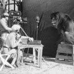 Cameramen recording the iconic roar, 1927. Metro-Goldwyn-Mayer lion
