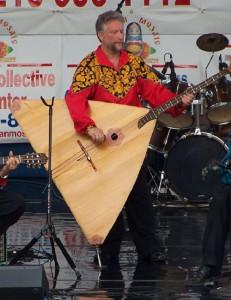 New York based balalaika contrabass player Leonid Bruk