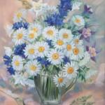 Wildflowers. Painting by Russian artist Roman Urbinskiy