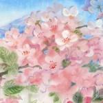 Blooming apple tree. Painting by Russian artist Roman Urbinskiy
