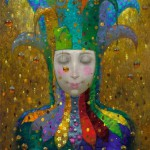Colorful painting by Russian artist Victor Nizovtsev