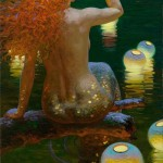Mermaid. Fabulous painting by Russian artist Victor Nizovtsev