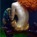 Waiting on a shore mermaid. Beautiful painting by Russian artist Victor Nizovtsev