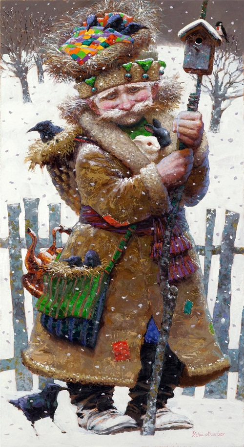Forest keeper. Painting by Russian artist Victor Nizovtsev