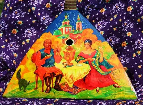 Painting on balalaika, artist Igor Mirgorod