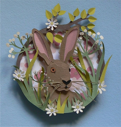 Hare in a wreath