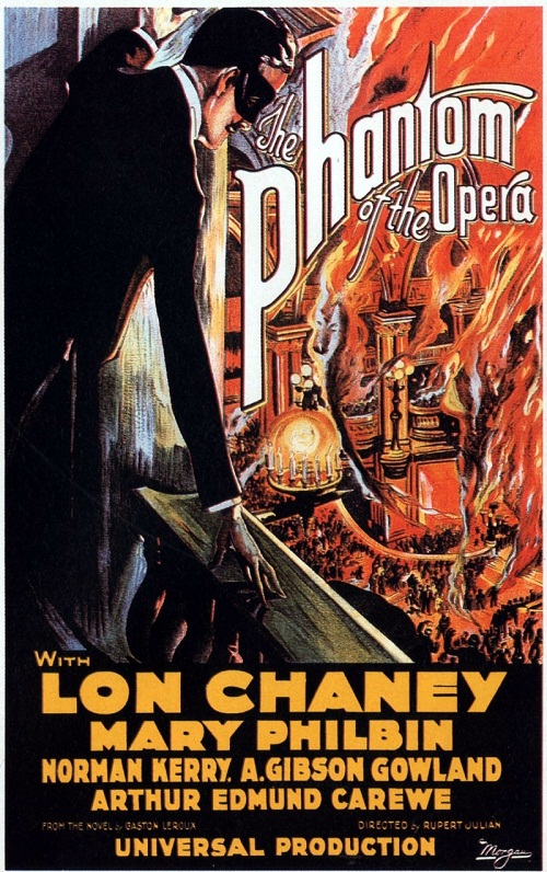 Movie poster. The Phantom of the Opera, 1925 silent horror film poster