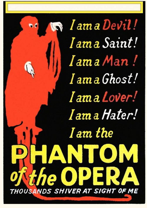 Devil, saint, ghost and man… Poster, Phantom of the opera