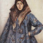Portrait of L.T. Matorina. Cossack woman. Vasily Surikov (1848 – 1916)