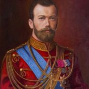 Portrait of Tsar Nicholas II in the form of Hussar Colonel. 2015. Oil on canvas