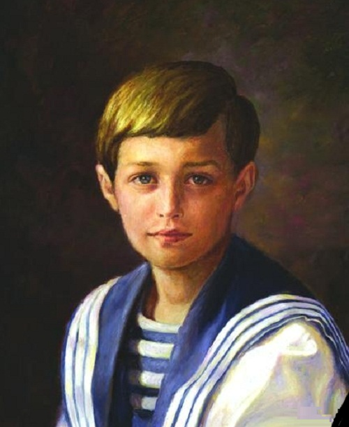 Tsarevich Alexei. Painting by Russian artist Irina Gayduk