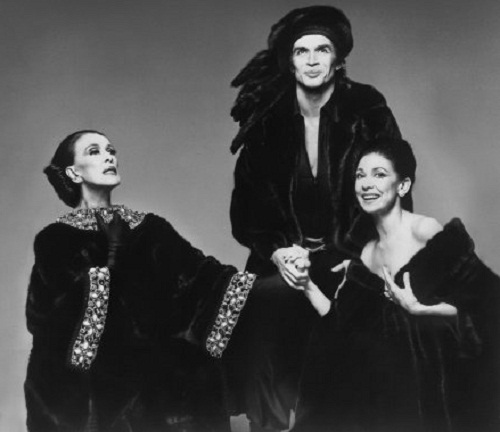 Martha Graham, Rudolph Nureyev and Margot Fonteyn, 1976