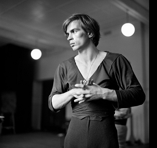 Behind the scene. Rudolf Nureyev