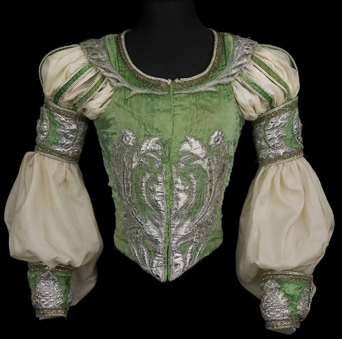 For the role of Romeo, Act II, Romeo and Juliet, Opéra national de Paris. 1984. Velvet, silk, silver lame, metallic lace, and sequins