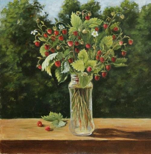 Strawberry bouquet. 2013. Oil, canvas