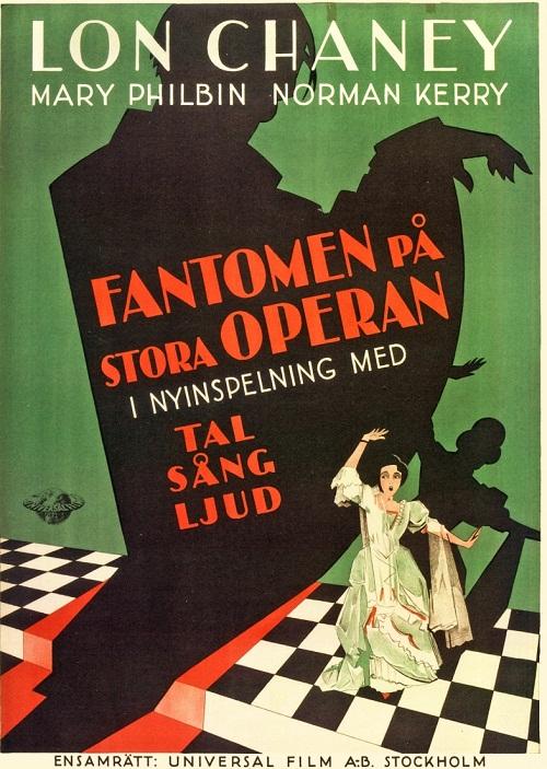 Swedish version of Phantom of the opera, poster