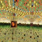 The piece of art is one of three Yayoi Kusama's works being sold by Christie's London