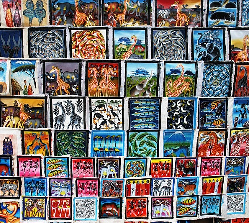 Tingatinga painting tourist-oriented art