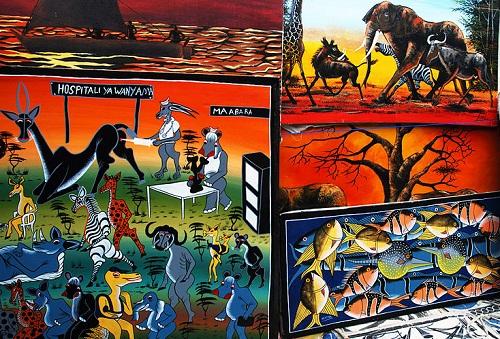Paintings of Tingatinga art