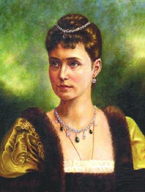 Tsarina Alexandra Feodorovna. 2005. Oil on canvas
