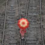 Railways. Umbrellas are open photo contest