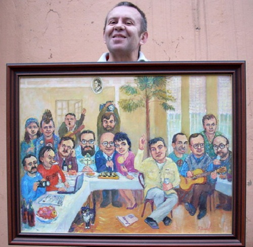 Usatov completed picture 'Vyatka Book Club'. 2008