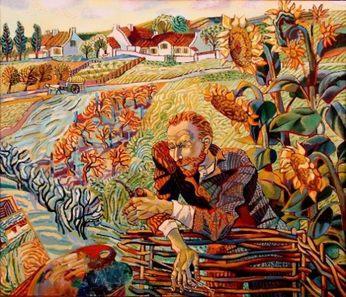 Van Gogh in Sunflowers. Favorite artists by Olga Trushnikova