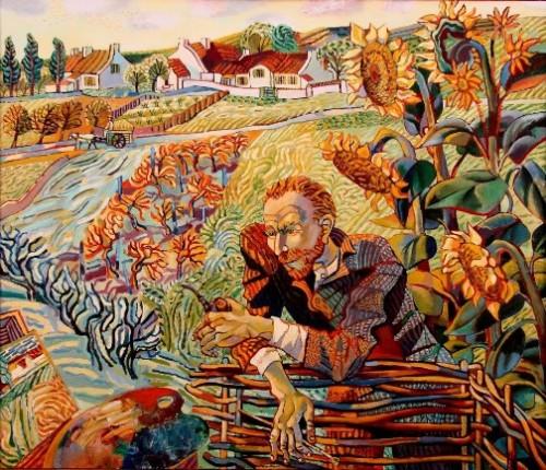 Van Gogh in Sunflowers. Favorite artists by Olga Trushnikova